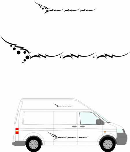 (No.240) MOTORHOME GRAPHICS STICKERS DECALS CAMPER VAN CARAVAN UNIVERSAL FITTING